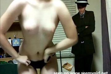 Schattig webcam moppie danst striptease